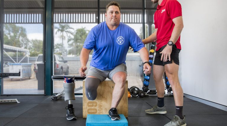 NDIS building strength with Exercise Physiologist